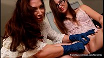 EroticMuscleVideos Little Teen Clit Gags On Big...
