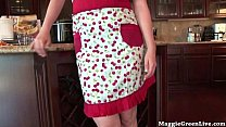 nude busty chef maggie green cums in kitchen