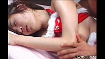 Asian slut too tired to fuck but still does