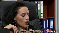office the in fucked gets secretary Busty
