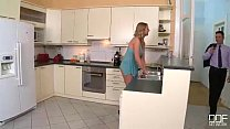 Insanely Hot Nymphomaniac Housewife gets drilled in the Kitchen porn videos