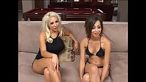 Two hot chicks get fucked in POV