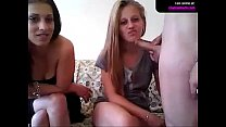 2 GIRLS 2 DILDOS AND 1 COCK On W