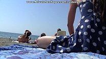 Public girlfriend fuck near the beach scene 3