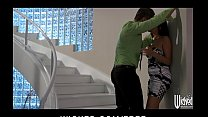 allie haze is carried out of the rain and into bed with older man