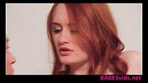 Redhead babe Denisa Heaven blowjob