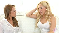 Sapphicerotica sensual girls in white enjoy les...