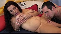 fuck and dildo getting granny latina bigboobs hair long Mature