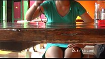 czech girl touches herself to orgasm in a crowded restaurant real