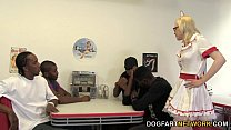 Kristy Snow Enjoys An Interracial Gangbang