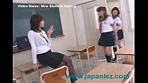new high school student gets introduced to the teacher
