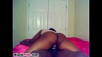 bootylicious black gf rides on big black cock