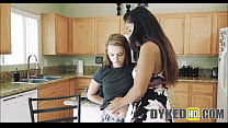 Two Teen Girl Roommates Fight Then Agree To Fuck - DYKEDhd.com