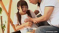 Asian adorable teen getting cummed in her mouth...