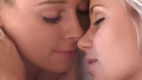 Two blonde cuties fingering - hot lesbias pussy...