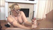 shower semen a gets blonde Busty