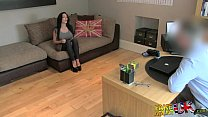 FakeAgentUK Huge big tits young porn wannabe goes all the way in casting porn videos