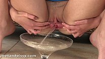 czech teen pouring piss all over her own body