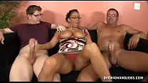 Busty Milf Meets Step son For The First Time