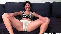 Older women soaking their cotton panties with p...