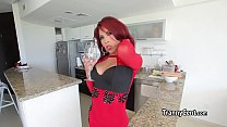 kitchen the in solo it doing Tranny