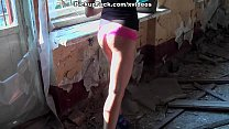 building abandoned an in fuck brunette Young