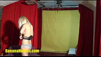 Fun with amazing blonde at the CASTING
