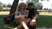 blonde soccer milf makes her cuckold hubby watch when she gets a facial
