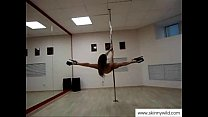 skinny girl pole dancing