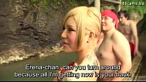 experience onsen group gyaru newhalf japanese Subtitled