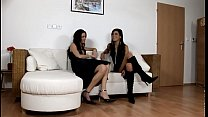 2 gals caress their gf