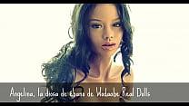 ébano de diosa silicona de muñeca la angelina, doll Real