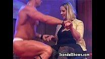 dance lap hot gives striper Male