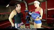 therealworkout   horny brunette fucked in the gym