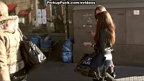 Street pick up video of pretty babe