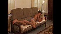 Barebacking on the sofa