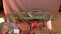 Chaise percée uro Golden shower ABCplaisir