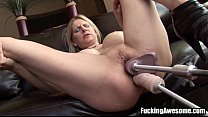 nikki west gets her holes drilled by a fucking machine