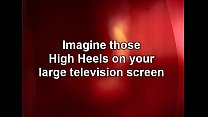 ebony pantyhose and heels