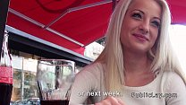 amateur blonde from public cafe to fucking apartment