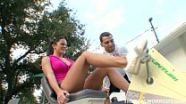 Savannah Stern gets her bigtits cummed on by he...