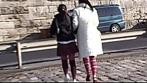 Two young schoolgirls blindfolded and banged by...