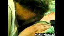Sassy Arab girlfriend sucks dick and gets creamy pussy filled to the max