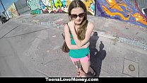 TeensLoveMoney - Busty Molly Jane Fucks Outside for Cash porn videos