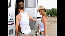 Trailer Park Threesome With Claire Dames and Ke...