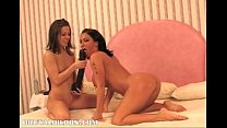 kream and nadia fuck each other with massive toys
