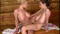 lucie wilde and dona bell – sauna spectacle – Free Porn Video
