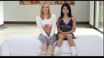 myveryfirsttime   sadie and bailey team up for their first group sex scene