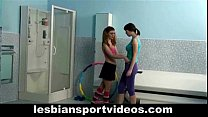 Lesbian fitness trainer teaches and seduces swe...