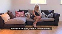 fakeagentuk husky voiced british beauty gets sticky reward